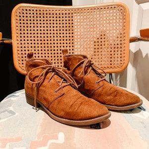 Shoes - • b r o w n  f a u x  l a c e u p  b o o t s •